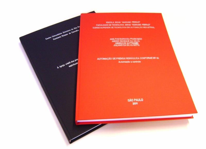 Encadernação e Impressão de Tcc Preço Rio Grande da Serra - Impressão e Encadernação