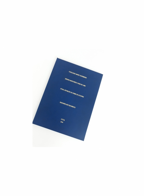 Encadernação e Impressão de Tcc Morumbi - Impressão e Encadernação