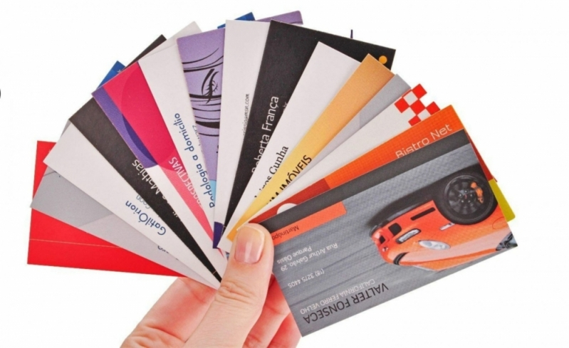Impressão de Cartão de Visita Valor ABCD - Impressão Digital Gráfica