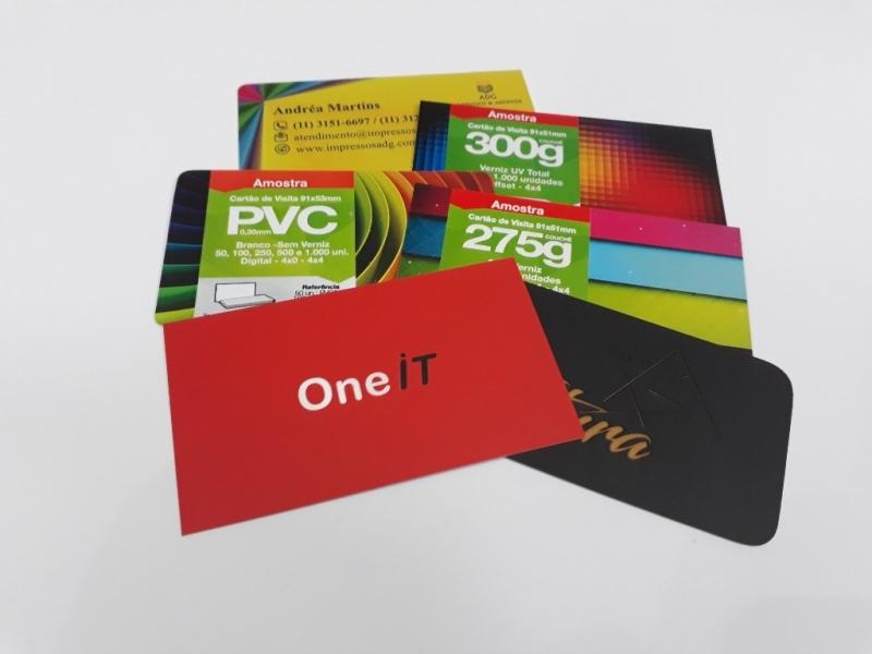 Impressão de Cartão de Visita Bela Vista - Impressão Digital Gráfica