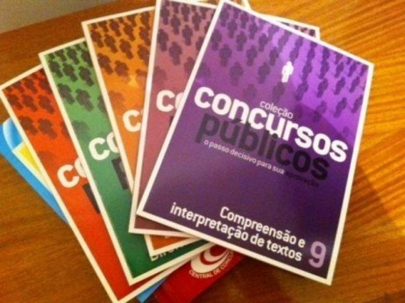 Onde Faz Impressão de Apostilas Concursos Perus - Impressão de Apostilas Treinamentos