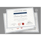 impressão de certificados Campo Belo