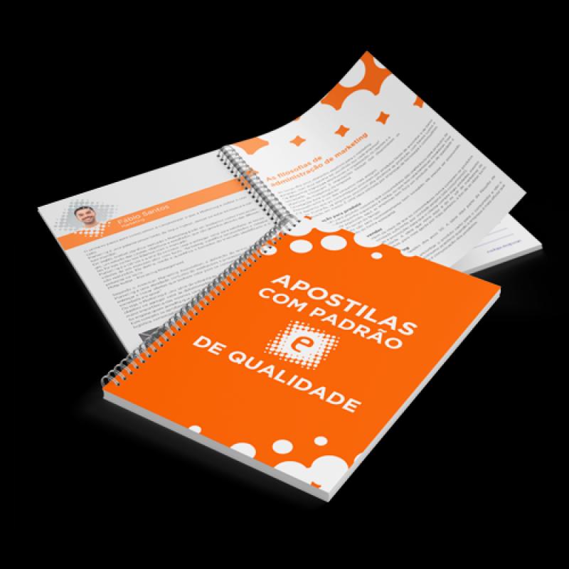 Empresa de Impressão de Apostilas Treinamentos Rio Pequeno - Impressão de Apostilas Escolares
