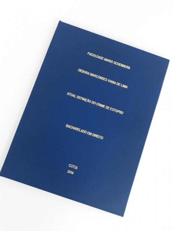 Encadernação de Monografia Preço Campo Grande - Impressão e Encadernação
