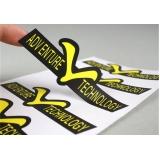 impressão digital adesivo valor Santana