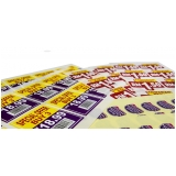 impressão para adesivos preço Caierias